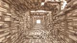 Fototapeta  - tunnel of the wood © pajaro