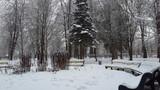 Небо,  дерево, город, облака, свет, ясный день, красота, природа, погода, зима, лес, беседка, санаторий, счастье, сказка, новый год, рождество, март