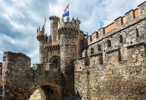 Templar castle of Ponferrada, province of Leon, Spain Poster
