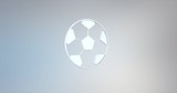 Animated Football White 3d Icon Loop Modules for edit with alpha matte
