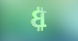 Animated Bitcoin Color 3d Icon Loop Modules for edit with alpha matte