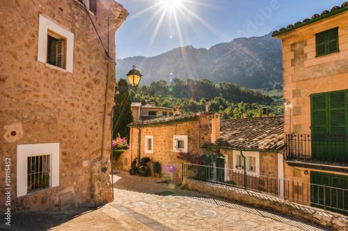 Fototapeta Spain Mountain Village Fornalutx Majorca