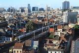 Metropole Brüssel / Blick vom Boulevard du Midi über Brüssel