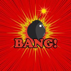 Comic book bomb explosion