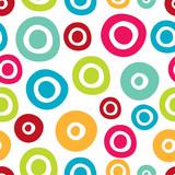 Summer polka dot. Vintage vector seamless pattern.