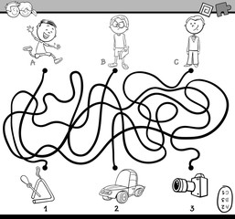 path maze coloring book