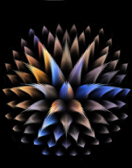 Abstract fractal 3D fantastic plant