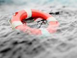 Lifebuoy on water surface