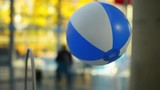 GDYNIA, POLAND - OCTOBER 27 2015: The ball flies because air rises up constantly. EXPERYMENT Science Centre is one of the first such establishments in Poland.