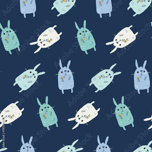 Cotton fabric Bunnies