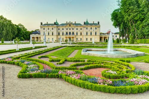 Zdjęcia na płótnie, fototapety na wymiar, obrazy na ścianę : Garden in the Branicki Palace Białystok Poland