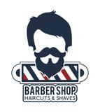 professional barber shop icon vector illustration graphic