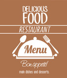 menu restaurant cover icon vector illustration graphic