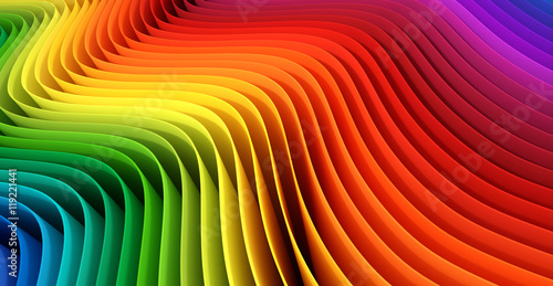 Abstract color stripes. 3D rendering