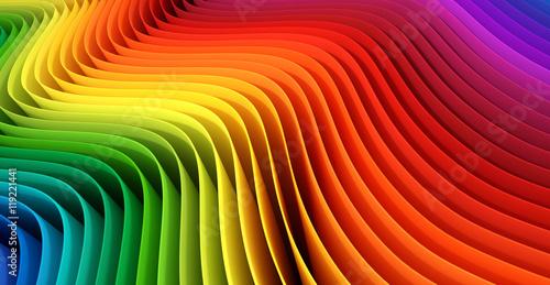 Fridge magnet Abstract color stripes. 3D rendering