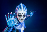 Mystical surreal alien woman.