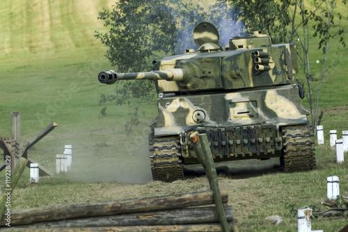 żołnierze i sprzęt w historycznej bitwie