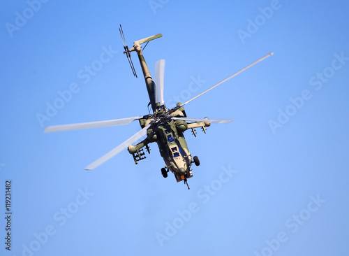 Poster Combat helicopter in flight