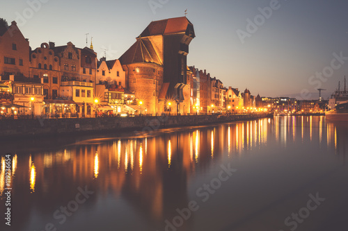 obraz PCV Gdansk,Poland-September 19,2015: old town and famous crane, Poli