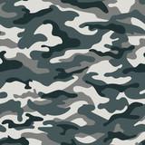 Wojskowy kamuflaż bezszwowy wzór, szary. Ilustracji wektorowych