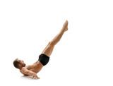 Sport. Gymnast training to keep his body balance