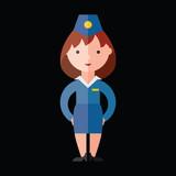 stewardess flat icon