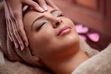 Fototapety woman enjoy in face massage