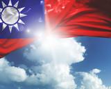 Taiwan flag on a beautiful day