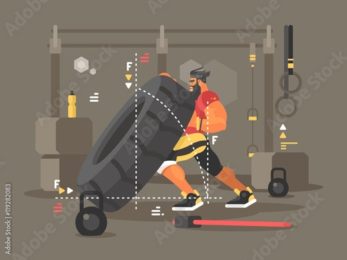 Evan Pflock doing a tire lift