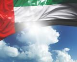 UAE flag on a beautiful day