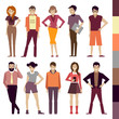 people. set. colorful. vector illustration.