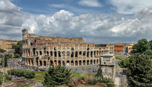 panorama of the Colosseum in Rome i