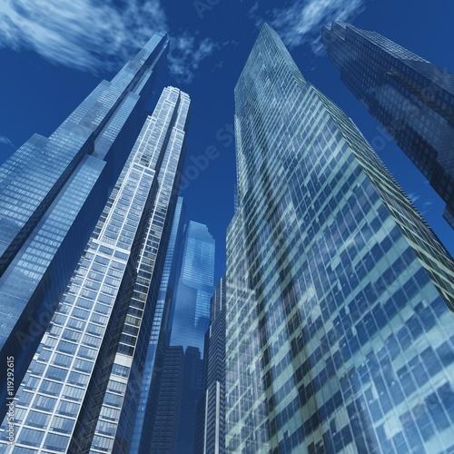 Fototapeta skyscrapers against the sky