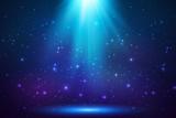Blue shining top magic light background - 119295638