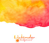 Orange and red watercolor vector background