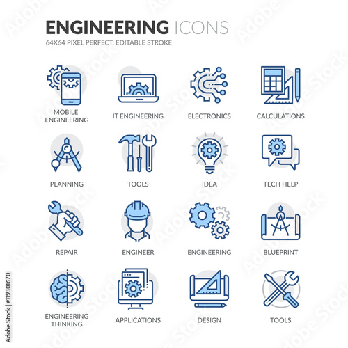 Line Engineering Icons