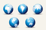 World Map and Globe Detail Vector