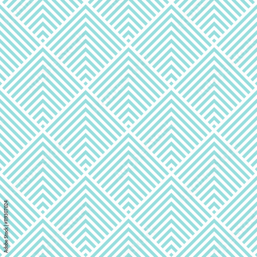 Chevron stripe pattern seamless green aqua and white colors. Fashion design pattern seamless . Geometric stripe abstract background vector. - 119307024