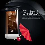cocktail tropical poster bar icon vector illustration design