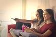 Girls watching a movie
