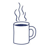 coffee cup drawn isolated icon vector illustration design