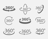 Fototapety 360 degree views icons