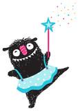 Fun Monster Dancing Princess Humorous Cartoon for Kids