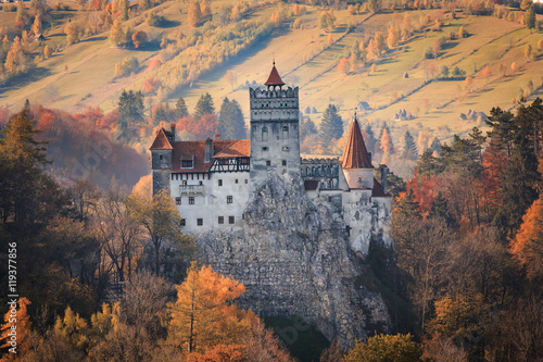 Europe, Transylvania, Romania, 13th century Castle Bran, associated with Vlad II the Impaler, AKA Dracula.Queen Marie of Romania's later residence. - 119377856