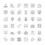 Line icons. School - 119379052