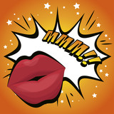 lip female beautiful d icon vector illustration design