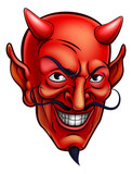 Devil Face Cartoon