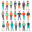people. set. characters. vector illustration.