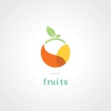 Fototapety circle fruits plant logo