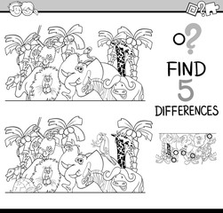 differences task for coloring
